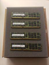 Lot of 64 GB (4×16GB) Samsung PC3-12800 RDIMM 1600 MHz DDR3 SDRAM Memory
