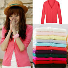 New Women Long Sleeve Knitted Cardigan Coat Jacket Outwear Casual Loose Sweater