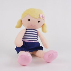 Carters 10 inch Soft Plush Babys First Doll Blonde Blue Dress 2015 Gift