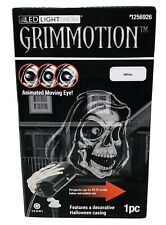 Gemmy LED Light Show GrimMotion Projector Animated Moving Eye Skeleton Halloween