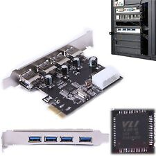 4 Port PCI-E to USB 3.0 HUB VL805 Chipset PCI Express Card Adapter 5 Gbps Speed