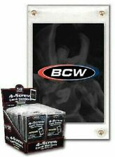 New (50 pk) BCW 4-Screw Trading Card Holder Thicker 20pt Recessed Screwdown