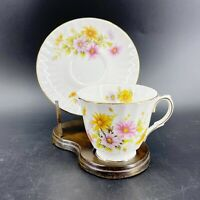 Vintage Royal Winchester Bone China England Teacup & Saucer Chrysanthemum Floral