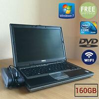 """Dell Latitude D630 laptop 14.1"""" Core 2 Duo 2.00 GHz 160GB 2GB Windows 7 Vista XP"""