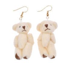Cloth Bear Hook Earring Cute Beige Toy Pendant Lovely Animal Eardrop Women New