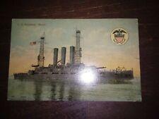 "U.S. Battleship ""Maine"" Postcard"