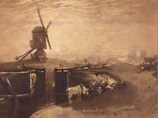 Joseph Paul William Turner William decir británica BB5982B impresión de bloqueo de molino de viento