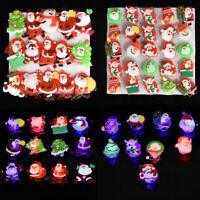 3PCS Christmas Flashing LED Light Up Badge Brooch Pin Charm Jewelry Xmas Gift