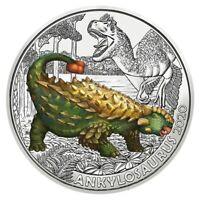 3 Euros Commémorative Autriche 2020 Colourful Creatures Ankilosaurus