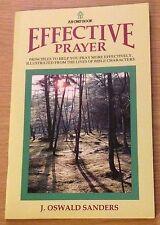 EFFECTIVE PRAYER J Oswald Sanders Booklet (Paperback)
