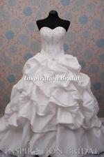 1274 bridal gown made to measure corset sweetheart princess wedding sparkle UK