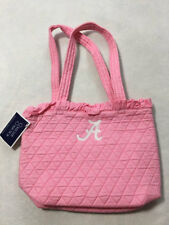 053bae5a1f32 NWT Collegiate Collection Alabama Pink White Ruffle Purse Bag Quilted Cotton