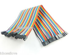 40pcs Dupont Wire Color Jumper Cable 2.0mm 2P-2P Female to Female Pin Head 20cm