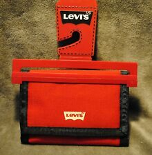 LEVIS ~ MENS WALLET~ RED POLYESTER TRIFOLD ~ GREAT FOR ACTIVE GUYS ~ BRAND NEW ~