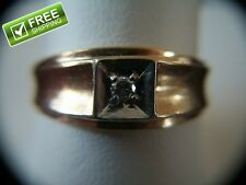 Men's Siffari 10k Y G Ring with a .11ctw Diamond 5 Grams Size 9.75