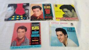 LOT DE 5 45 TOURS D ELVIS PRESLEY RCA VICTOR