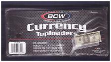 25 BCW 6.5x3 Regular Small Currency Dollar Bill Hard Plastic Toploaders holders