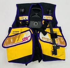 VTG Spiro Aqua Lung Size L Divers SBC Hose Purple And Yellow Buoyancy Device