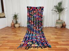 Moroccan Handmade Runner Rug 2'6x8' Vintage Bohemian Rug Berber Colorful Carpet