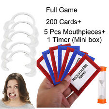 5x Mouthguards 200+ Cards +Timer Replae For Speak Out Game Board Challenge