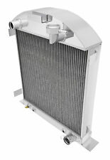 1928- 1929 Ford Model A Radiator with Chevy Configuration Aluminum 2 Row