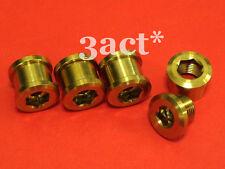 8 pcs Gold Color Titanium / Ti Crankset Chainring Bolt & Nut - 4 Bolts & 4 Nuts