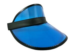 Clear Colored Plastic Sun Visor Tennis Beach Bingo Vegas Dealer Golf Casino Hat