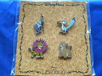 Disney * LION KING * New is Package 4 Pin Booster Set - Simba Nala Zazu Rafiki