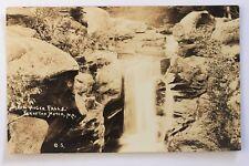 RPPC postcard SCREW AUGER FALLS, BEAR RIVER, CRAFTON NOTCH STATE PARK, NEWRY, ME