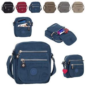 BagStreet kleine Damen Handtasche Schultertasche Herren Umhängetasche Nylon 2225