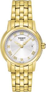 Tissot Swiss Made T-Classic Ballade III Gold Plated Ladies' Watch