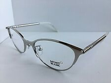 New MONTBLANC MB 438 016 52mm Silver Rx Women's Eyeglasses Frame Italy #4