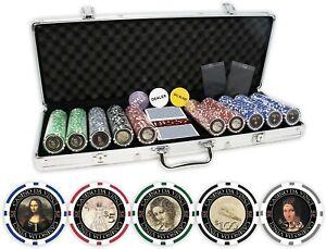 DA VINCI Masterworks Poker Chip Set (500 chips)-Featuring Leonardo daVinci's Art