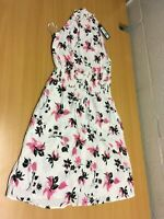 M&S MARKS AND SPENCER COLLECTION WOMEN'S WHITE FLORAL DRESS 14 NEW