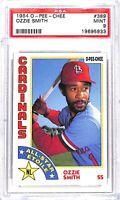 1984 O-Pee-Chee All-Star Baseball Card_#389 Ozzie Smith_PSA 9 MINT_HOF_Cardinals