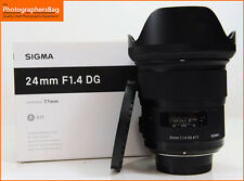 Sigma 24mm F1.4 DG HSM Art Lens Nikon + Free UK Postage