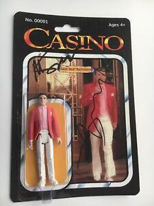 "Robert De Niro Deniro Martin Scorsese signed autograph ""Casino"" figure Rare, COA"
