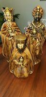 Vintage Large Nativity Black White Wisemen 3 Kings Made Japan Wise men Magi