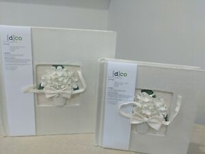 Handmade Silk Rose Album Set Of 2, any occasion, recycled, wedding, birthday etc