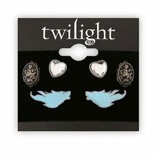 NEW NECA Twilight Saga Earrings 3 Pair / Pack Wolf Heart Cullen Crest Jewelry