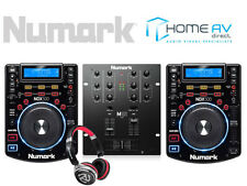 NUMARK DJ BUNDLE - 2 X NDX500 + M101USB MIXER + HF150 DJ Headphones USB CD MP3