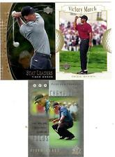 3 CARD LOT 2001 UPPER DECK TIGER WOODS SP AUTHENTIC VICTORY MARCH STAT LEADERS
