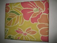 Large Bold Yellow Pink Green Floral Flower Fabric Shower Curtain NEW