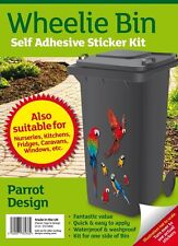 Wheelie Bin Collectors Parrot Stickers