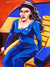 DEANNA TROI PAINTING star trek tng the next generation marina sirtis enterprise