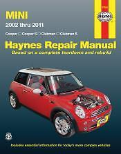 New Mini Cooper/Clubman 02-11 Haynes Repair Manual NEW Service Book owners Shop