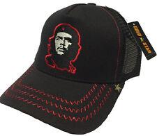 NEW GOLD STAR BLACK/RED CHE GUEVARA GUERRILLERO TRUCKER HAT  GOLD STAR