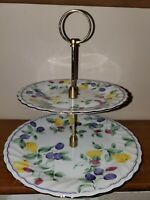 Federated Department Stores Exclusive Japan Two Tier Cake Stand Yellow & Purple