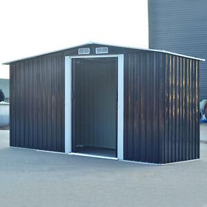 Metal 6x8, 8x8, 10x8 Garden Shed Tool Storage Organizer Log Firewood Store House