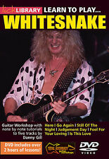 Lick Library: Learn To Play Whitesnake Guitar DVD (Region 0) Instrumental Tutor